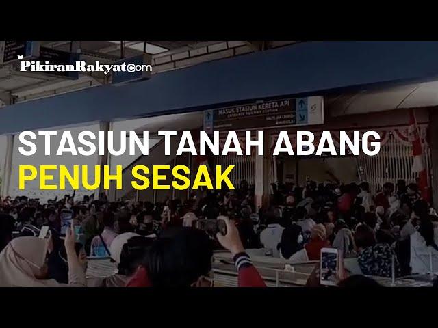 Imbas Viral Video Penumpang Stasiun Tanah Abang Penuh Sesak, PT KCI Tutup Pintu Masuk Sisi Selatan