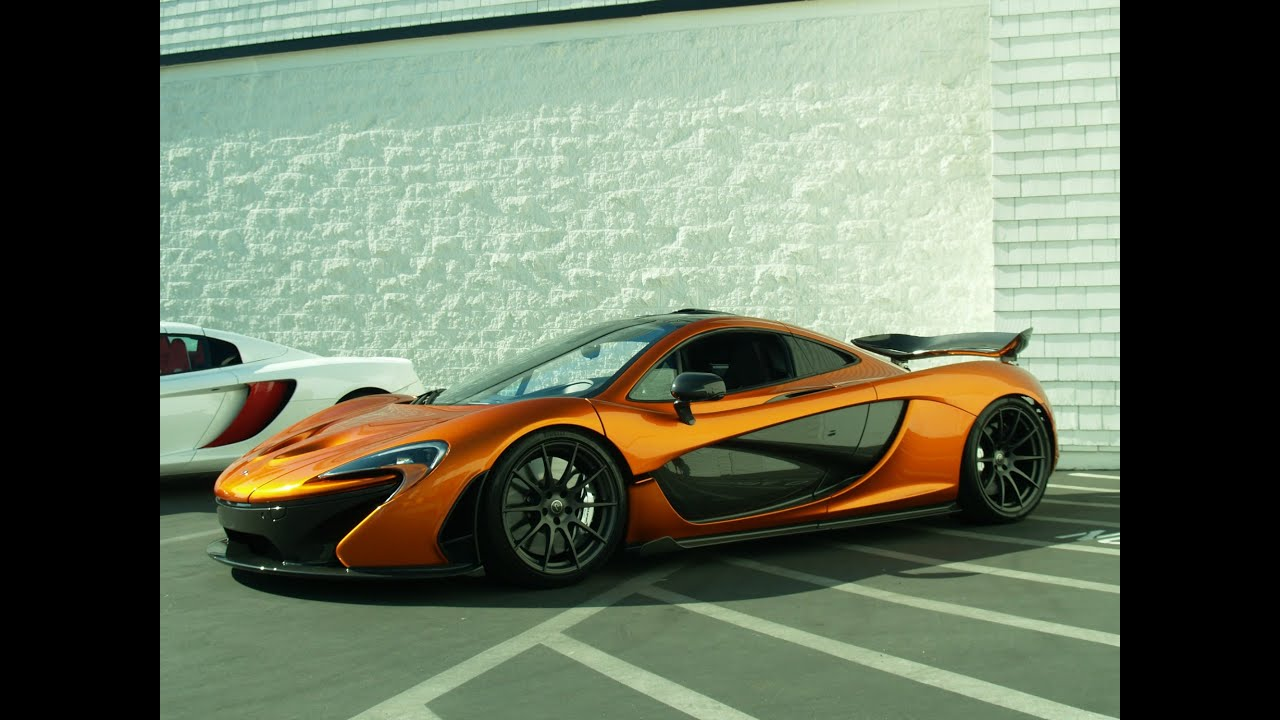 McLaren P1 in Volcano Orange Start up