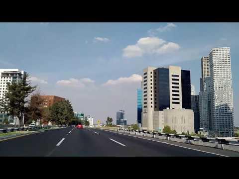 Driving into Mexico City from Santa Fe new year 2016 - 2017
