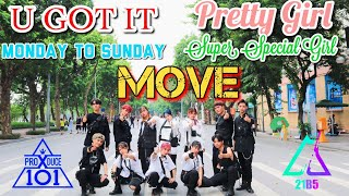 [KPOP IN PUBLIC] ㅣPRODUCE X 101ㅣMedley 5 ConceptㅣSIXC 'MOVE' (움직여) Dance Cover by 21B5 from Vietnam.