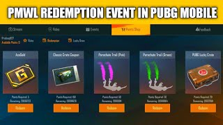 PMWL EVENT IN PUBG MOBILE | PMWL LUCKY DRAW & REDEMPTION EVENT IN PUBG | pubg mobile new event
