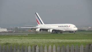 Landing A380 Air France  Montreal Track 24R - AF346 (With ATC)