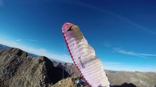 Scary paragliding takeoff