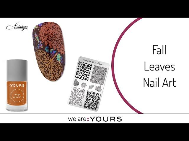 Fall Leaves Nail Art Design