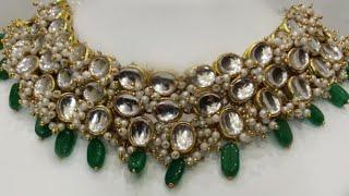 Designer Jewellery Making at Home / Kundan jewellery making idea DIY / Kundan Necklace