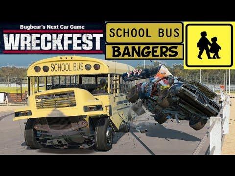 Wreckfest: School Bus Wrecking With Gildo. Wreckfest Mods