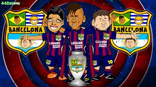 👑CHAMPIONS👑 Barcelona Champions League Final 2015 (3-1) Treble Winners