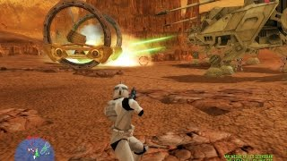 Star Wars Battlefront 1 gameplay The Battle Of Geonosis Clone Wars  mission 4