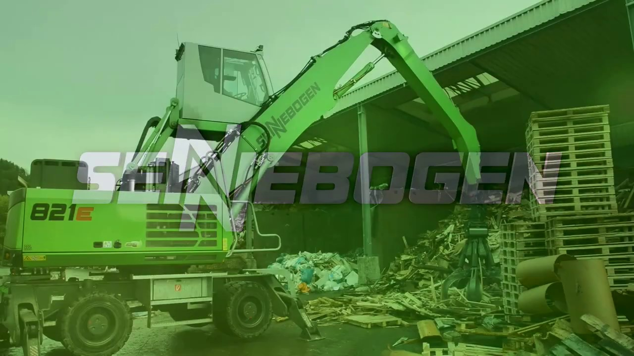 SENNEBOGEN 821 Mobile - Indoor and outdoor recycling application at Menshen GmbH in Germany