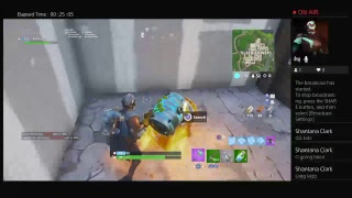 (Fortnite game play) Block buster skin game play