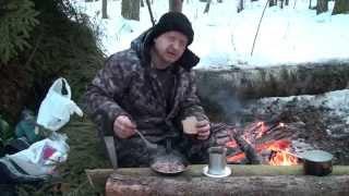 Ночёвка в зимнем лесу