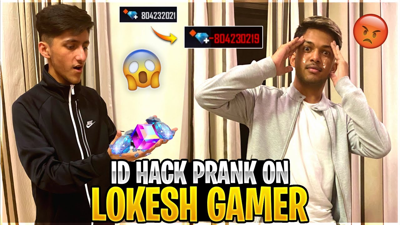Id Hack Prank On Lokesh Gamer? In Gaming House Wasting All His Diamonds ? - Garena Free Fire