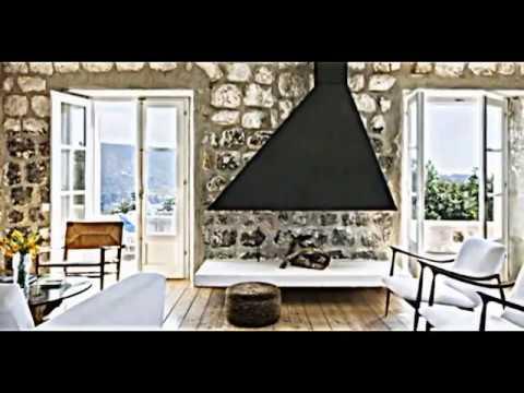 Attraktive Wandgestaltung im Wohnzimmer Wand in Steinoptik verkleiden  YouTube