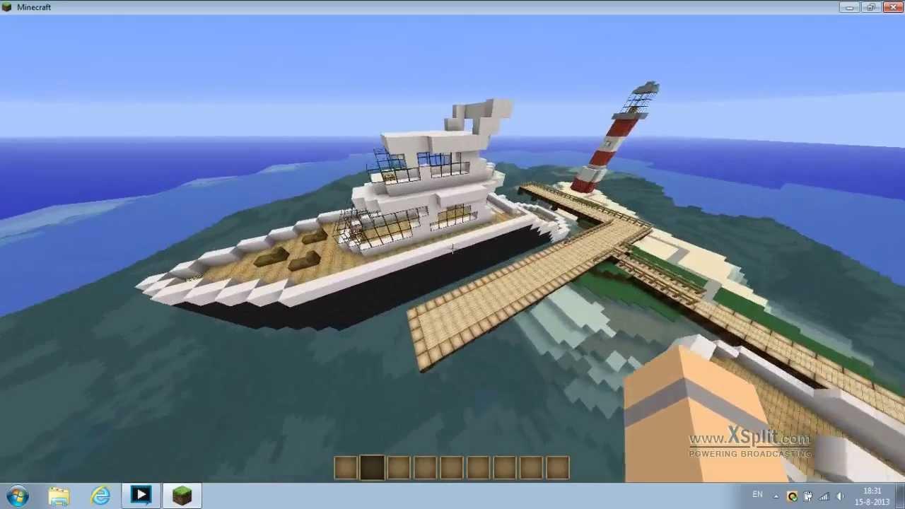 minecraft modern boat YouTube