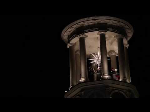 Christmas Song atop Central Moravian Church on Main Street in  Bethlehem, PA