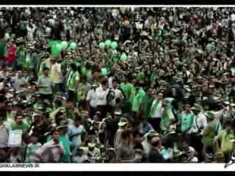 Mousavi Victory Music in Iran Presidential Election against Ahmadinejad with Iranian boys and girls