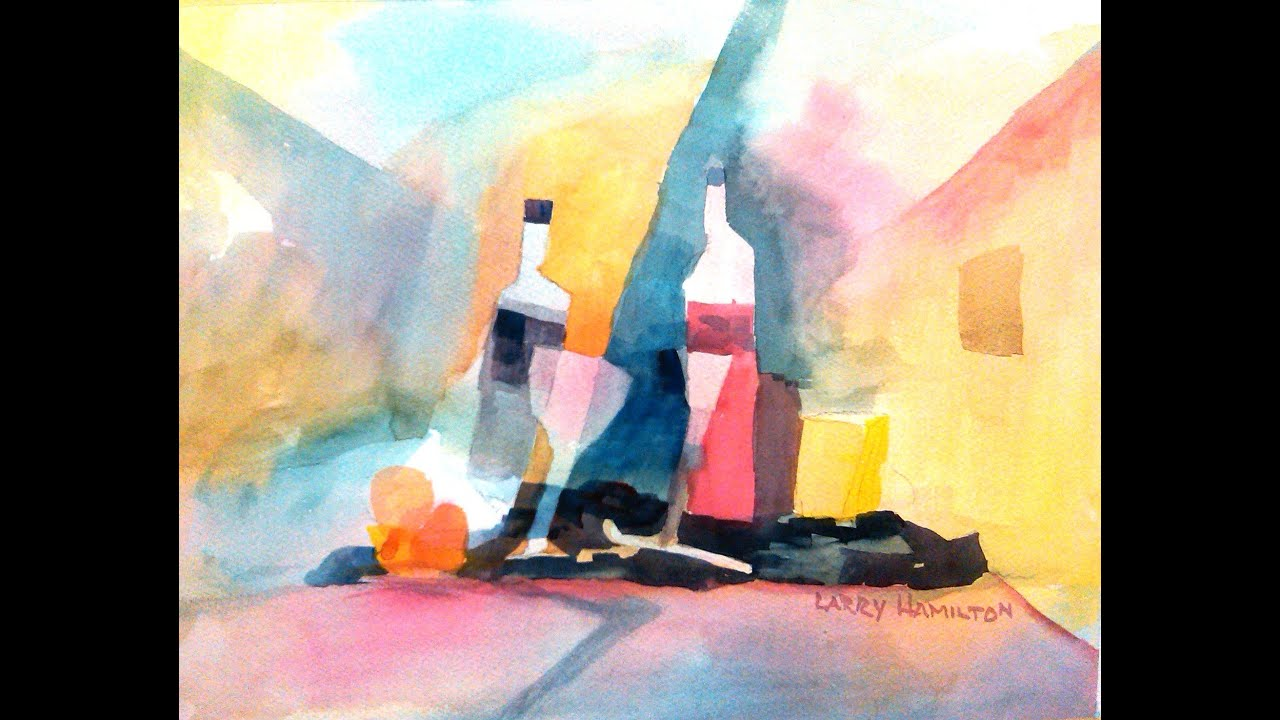 Paint along with larry hamilton june 19 2013 for How to paint abstract with watercolors