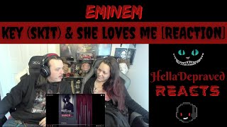 WHY IS NO ONE TALKING ABOUT THIS - Eminem The Key (Skit)/She Loves Me [REACTION]