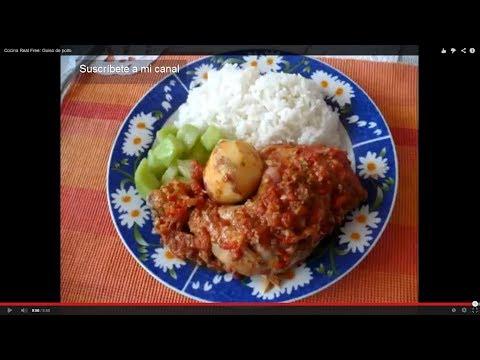 Pollo en salsa Criolla. Comida Típica Colombiana
