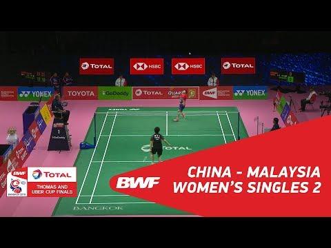 Uber Cup   WS2   HE Bingjiao (CHN) vs GOH Jin Wei (MAS)   BWF 2018