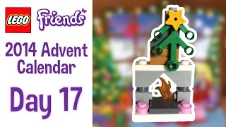 Lego Friends 2014 Advent Calendar - Day 17 - A Holiday Fireplace!