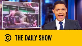 Father Tackles Son's Wrestling Opponent | The Daily Show With Trevor Noah