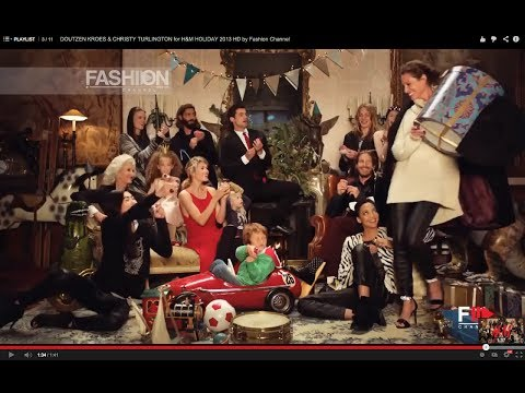 DOUTZEN KROES & CHRISTY TURLINGTON for H&M HOLIDAY 2013 HD by Fashion Channel