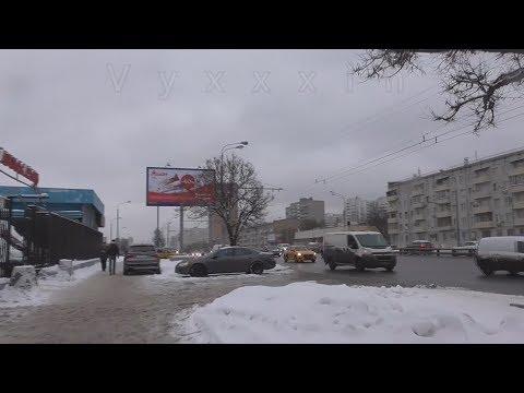 #Москва 44 - станция метро варшавская и варшавское шоссе Vlog зимний московский влог ЗИМОЙ ДНЁМ