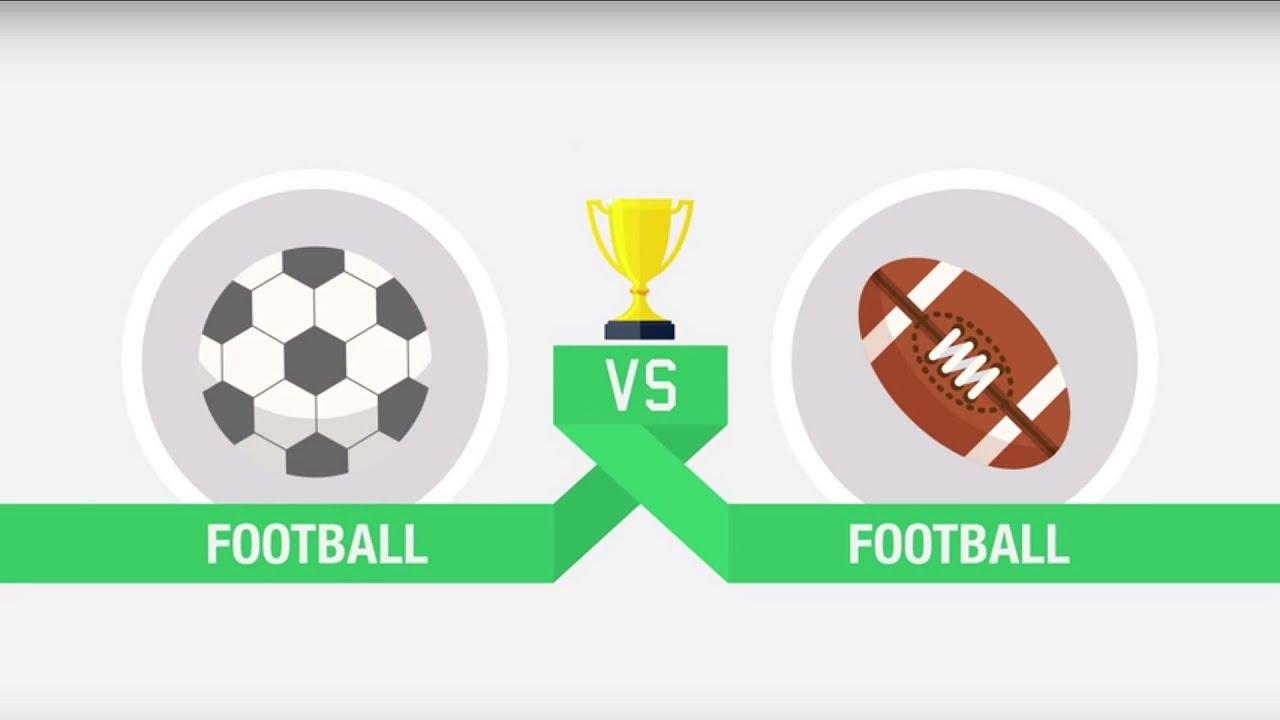 american football vs football
