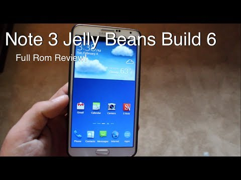 Galaxy Note 3 Jelly Beans Build 6 Rom [FULL REVIEW]