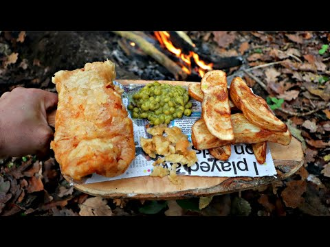 Campfire Cooking: Fish & Chips | Catfish & Triple Cooked Chips!