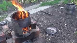Как сделать мини печку, щепотницу,  за 5 минут из банки из под краски