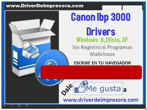 Canon драйвера lbp 3000.
