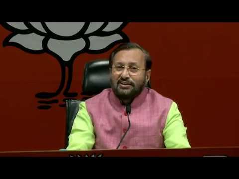 Press Conference by Shri Prakash Javadekar at BJP Head Office, New Delhi