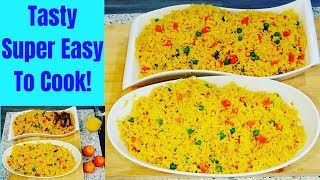 How To Cook Extra Long Grain Yellow Basmati Rice |Tasty Super Easy | Eve Calma