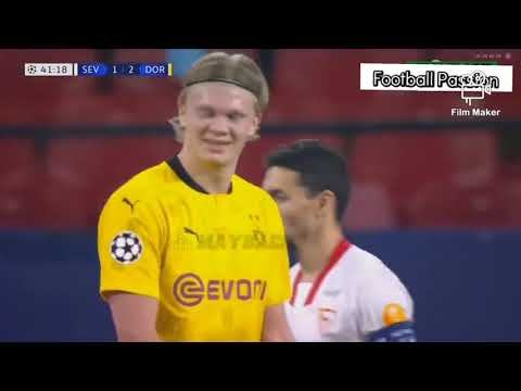 Sevilla Vs Dortmund 2 - 3 Highlights Of Champions League Round Of 16 1st Leg 2020/21