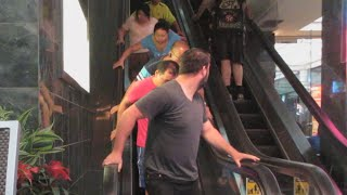 One of Alex Mandel Vlog's most viewed videos: Magic Escalator Prank