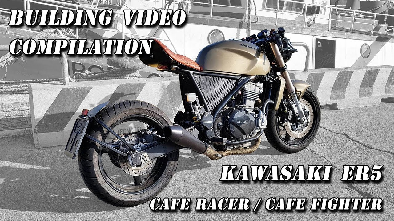 Kawasaki ER5 Cafe Racer / Cafe Fighter building process video compilation
