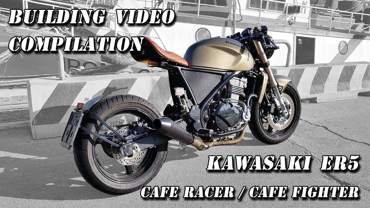 Kawasaki Er5 Cafe Racer Project Er 5 Wiring Diagram Fighter Building Process