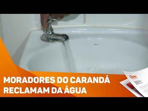 Moradores do Carandá reclamam da água - TV SOROCABA/SBT