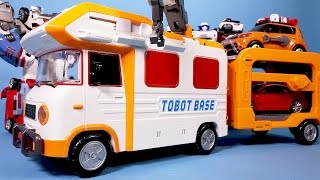 또봇 쪼꼬베이스 변신기지, 헬로카봇 다이노포스 장난감 TOBOT BASE camping Robot car