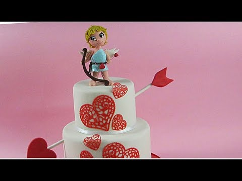 Easy Cupid Cake Topper For Valentine S Day Delicious Sparkly Cakes