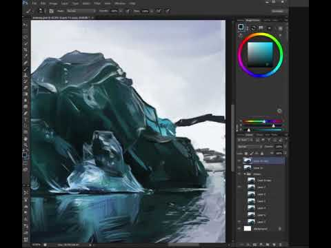 Iceberg study timelapse