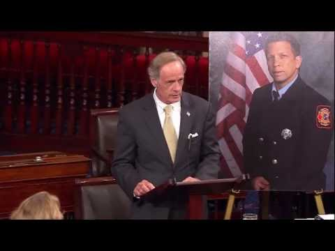 Senators Carper & Coons Pay Tribute to Fallen Delaware Firefighters Jerry Fickes & Chris Leach