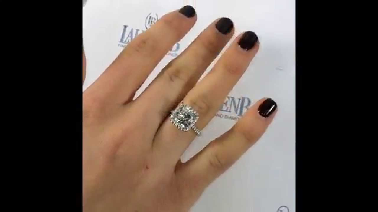 carats rings diamond cushion for carat luxury wedding cut