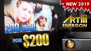 $199 Artlii ENERGON Home Theater Projector | 4200 lumen | Cool Review