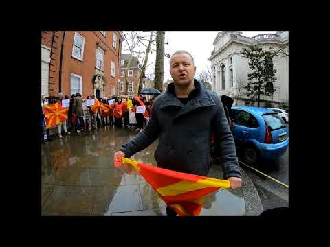 A protester at the 'We are Macedonia' demo in central London