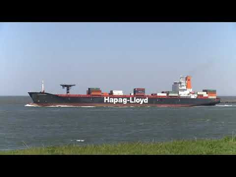"""""""OTTAWA EXPRESS"""" 2,992TEU container ship departing from the port of Rotterdam"""