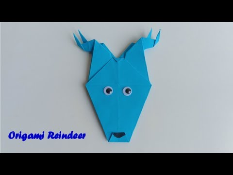 How to Make an Easy Paper Origami Reindeer by Hand with Diy Paper