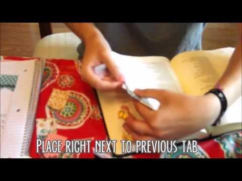 DIY Bible Tabs